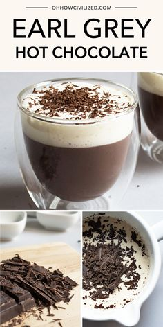 Earl Grey Hot Chocolate This hot chocolate recipe is one of the most delicious you will ever have. You will never go back to powdered, watery hot chocolate mix. Make this easy, step by step decadent Earl Grey hot chocolate recipe and enjoy! Homemade Hot Chocolate, Hot Chocolate Mix, Hot Chocolate Recipes, Hot Tea Recipes, Coffee Recipes, Thm Recipes, Drink Recipes, Delicious Recipes, Earl Grey Tee