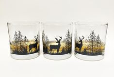 Hand drawn illustration screen printed onto heavy rocks glass. Black screen print on 10.5 oz Rocks Glass Glasses made in the USA, printed in Denver, CO. Glasses are (top rack) dishwasher safe, and nice and durable.