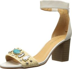Enzo Angiolini Womens Gavenia Dress Sandal WhiteNatural 65 M US >>> Special  product just for you. See it now!