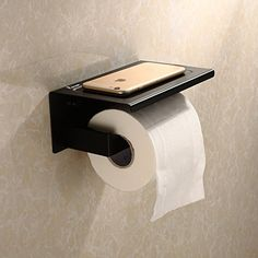 Fuloon Bathroom Accessories Stainless Steel Wall Mount Bathroom Lavatory Toilet Paper Holder Black * Learn more by visiting the image link. Toilet Paper Dispenser, Toilet Paper Roll Holder, Bathroom Toilets, Bathroom Wall, Bathroom Ideas, Wall Mount Rack, Downstairs Toilet, Wall Mounted Toilet, Steel Wall