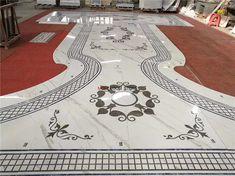 water jet marble flooring medallion