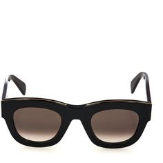 CLINE SUNGLASSES D-framed acetate sunglasses ($450) ❤ liked on Polyvore featuring accessories, eyewear, sunglasses, black, thick glasses, celine eyewear, black sunglasses, thick black sunglasses and black glasses