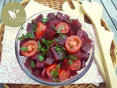 Recette de salade de betterave rouge avec tomate et vinaigrette, je vous explique comment cuire les betteraves et comment réaliser cette entrée santé detox
