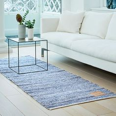 80x240 Jeans Rug - Blue - by Rug Solid #MONOQI