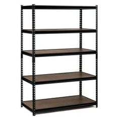 48 In. W X 72 In. H X 24 In. D Steel Commercial Shelving Unit