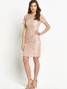 Bow Back Short Sleeve Lace Dress, http://www.very.co.uk/definitions-bow-back-short-sleeve-lace-dress/1458041912.prd