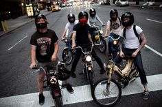 dudes on mopeds