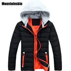Promotion price Mountainskin 2017 Men's Winter Cotton Jacket Hooded Casual Thick Warm Clothing Solid Padded Thermal Parkas fashion Coats SA110  just only $23.51 - 25.70 with free shipping worldwide  #jacketscoatsformen Plese click on picture to see our special price for you