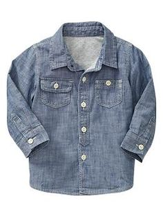 Long-sleeve chambray shirt | Gap