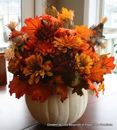 Fall flower arrangement for my house.