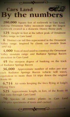 Interesting Cars Land facts #Disneyland