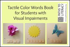 This tactile color words book helps students who are visually impaired learn colors!