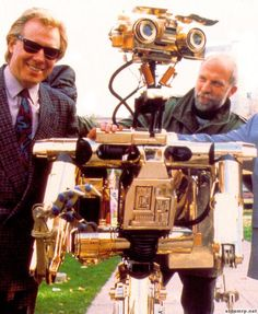 """Johnny 5 Short Circuit gold   Johnny """"Number 5"""" Five."""