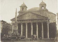 Пантеон. Рим.  Фотография 1852 года.