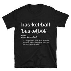 Basketball mom shirt - Basketball shirts - Basketball gift - Basketball quote - Basketball definition shirt by ReidDesignHauss on Etsy