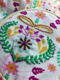 """Bari J. makes Aurifloss come to life on this beautiful hand stitching project!  """"I've used a combination of stitches on this, and you can get quite creative if you'd like. On this piece I've used matching Aurifil floss which is very nice. The colors are super saturated and it comes on a wooden spool containing a double skein.""""   To read more please visit http://barij.typepad.com/"""