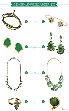 8 Emerald Jewelry Pieces Under $50 - Julep Blog - Julep Beauty Buzz