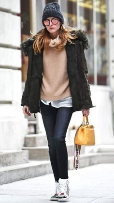 Olivia Palermo Winter Snow Outfits, Cold Winter Fashion, New York Winter  Outfit, New 75dd761c1b7