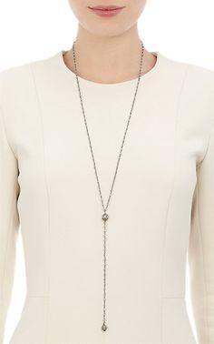 Feathered Soul Aquamarine & Diamond Rosary Bead Necklace