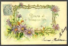 MW059-MARGUERITES-ASTERS-DORURES-FANTAISIE-Gaufree-Embossed