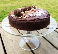 Imperfectly Paleo: Chocolate Birthday Cake with Ganache Frosting (& Freezer Fudge Byproduct!)