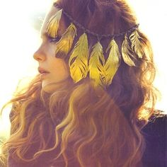 ombremermaid:    yellow feather circlet