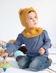 Winnie the Pooh baklava FREE PATTERN Knitting Patterns Free, Free Knitting, Free Pattern, Crochet Patterns, Crochet Hooks, Knit Crochet, Baby Barn, Baby Bonnets, Drops Design