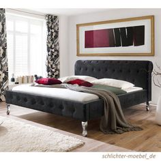 BAROCK Polsterbett Designerbett Bett Veloursbett Barockbett- 180x200, Schwarz in Möbel & Wohnen, Möbel, Betten & Wasserbetten   eBay