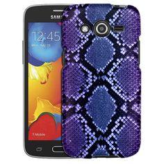 Samsung Galaxy Avant Snake Blue Pink Skin Slim Case