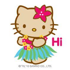 HK |❣| HELLO KITTY 'Hi' Emoticon Graphic