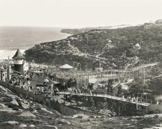 Wonderland city December 26, 1906. By 1901, Bondi Beach was already a fashionable tourist destination. A tramline was built to the beach in 1894, and the Royal Aquarium and Pleasure Grounds opened at Tamarama in 1887. Wonderland City opened in December 1906, also at Tamarama. The wooded slopes featured pleasure palaces, brightly coloured sideshows, a switchback (roller-coaster), scenic railway, slippery dips and underground rivers.