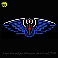 Neon Sign for Orleans Pelicans Alternate Pres Logo NBA Privateers Morgan State Bears Nccu Eagles England Patriots Jersey Devils
