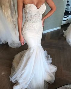 Mermaid Sweetheart Open Back White Lace Wedding Dresses with Beading, Chic Weddi. Mermaid Sweetheart Open Back White Lace Wedding Dresses with Beading, Chic Weddi Mermaid Sweetheart. White Lace Wedding Dress, Western Wedding Dresses, Tulle Wedding, Dream Wedding Dresses, Chic Wedding, Bridal Dresses, Wedding Gowns, Wedding White, Wedding Ideas