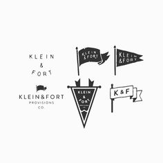 Finished Klein & Fort branding work, main logos, secondary logo, and draft sheet #branding #logo #typography #handlettering #lettering #illustration