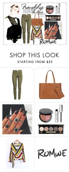 """Surplice Front Lace Up Wrap Top"" by tate-mafa on Polyvore featuring H&M, Aspinal of London and Bobbi Brown Cosmetics"