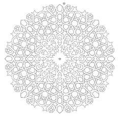 Mandala 649, Mandala Mazes Coloring Book, Dover Publications