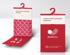 絆創膏の新しいパッケージアイデア「BANDiful」