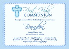twin boy and girl first communion invitations by artsyinvites