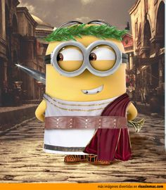 Minion Emperador romano. césar desplicable me