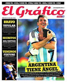 El Grafico de Argentina.............. Argentina 1 Suiza 0 .......... Gol de Di Maria..... en tiempo suplementario..... 1 julio de 2014.. octavos de final.. Estadio Arena Corinthias ... San Pablo.. Brasil.