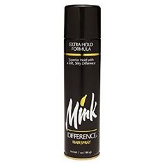 Mink Difference Hair Spray Extra Hold Formula 7 Oz (Pack of 12) Review #hairspray