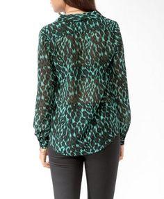 Sheer Safari Print Shirt | FOREVER21 - 2000049312