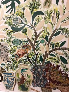 friday finds / sfgirlbybay Illustrations, Illustration Art, Online Portfolio Design, San Francisco Girls, Inside Garden, Little Plants, Botanical Prints, Mixed Media Art, Vintage Shops