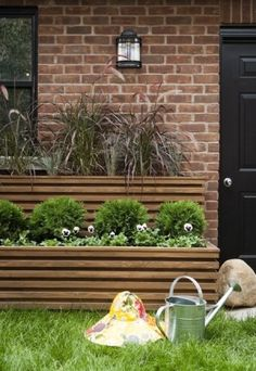 diy planters containers | Tiered planter boxes by christie - for the sides of the garage?