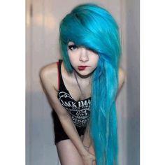 Make-up cute girl emo scene blue hair scene girl scene hair Emo Girl turquoise hair emo hair Goth Hair, Emo Hair, Grunge Hair, Scene Girls, Style Punk Rock, Pelo Emo, Mode Emo, Cute Emo Girls, Looks Instagram