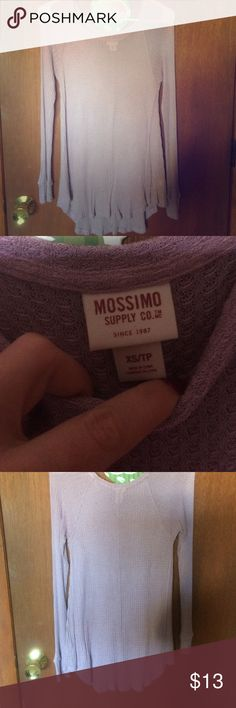 🆕Lilac Long Sleeve Brand new and smoke free. Lilac colored long sleeve by Mossimo. Purchased at Target. May need a tank underneath. Mossimo Supply Co. Tops Tees - Long Sleeve