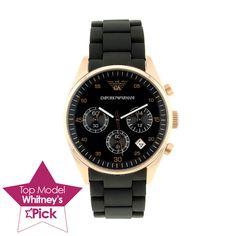 Armani Ladies' Sport Watch In Black & Gold - Beyond the Rack