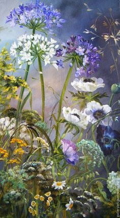 Triptych painting Herbs and flowers in the garden Flower Paintings handmade. Triptych painting 'Herbs and flowers in the garden'. My Livemaster. The post Triptych painting Herbs and flowers in the garden appeared first on Diy Flowers. Oil Painting Flowers, Garden Painting, Watercolor Flowers, Watercolor Paintings, Flower Paintings, Watercolour, Arte Floral, Cow Wall Art, Kids Canvas Art