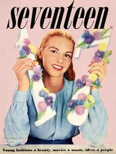 vintage cover of Seventeen Magazine 1944 by vilma