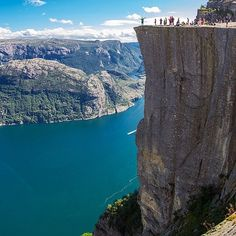 Majestic views of Pulpit Rock, near the city of Stavanger in southwest Norway